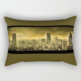 Nuclear city , Apocalypse Rectangular Pillow