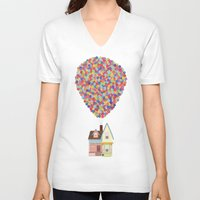 pixar V-neck T-shirts featuring Up by LOVEMI DESIGN