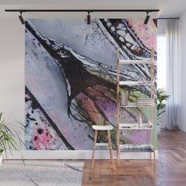 Afloat IV - Mixed Media Acrylic Abstract Modern Art, 2015 Wall Mural