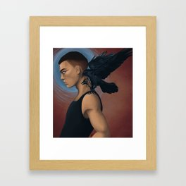 Ronan and Chainsaw Framed Art Print