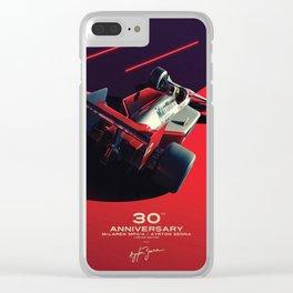 Ayrton Senna's MP4/4 30th anniversary. Clear iPhone Case