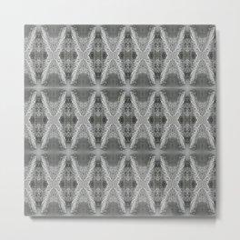 SnowDiamondsOfGray Metal Print