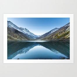 Saif-ul-mulook lake in Pakistan Art Print
