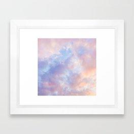 cotton candy clouds Framed Art Print
