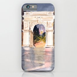Washington Square Park at Night iPhone Case