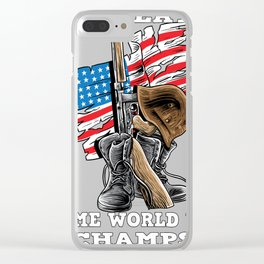 World War 2 - Undefeated veteran of the United States Clear iPhone Case