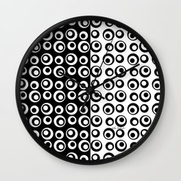 Mod Love Black/White Dots Circles Wall Clock
