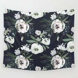 Rustic Floral Print Wall Tapestry