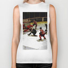 The End Zone - Ice Hockey Game Biker Tank