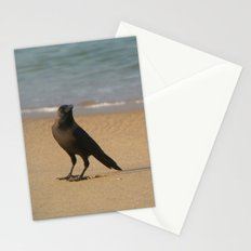 Crow on the Sand Varkalala Stationery Cards