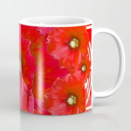 AWESOME RED FLOWERS BOUQUET PATTERN ABSTRACT ART Coffee Mug