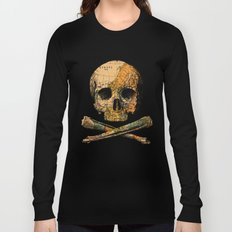 Treasure Map Skull Wanderlust Europe Long Sleeve T-shirt