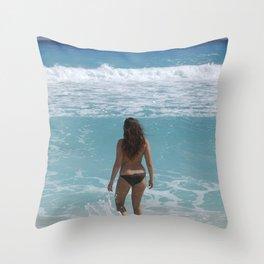 Carribean sea 1 Throw Pillow