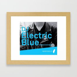 DJ Electric Blue / Pray for Taiwan Framed Art Print