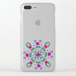 Flower Mandala in Pinks Clear iPhone Case