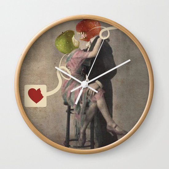Loving Apple Wall Clock