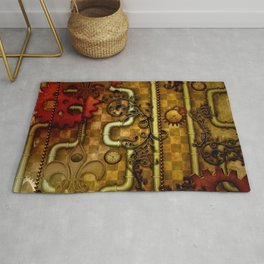 Noble Steampunk design, clocks and gears Rug