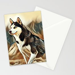 The Siberian Husky Stationery Cards