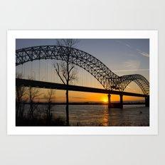 Memphis Bridge Art Print