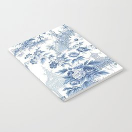 Powder Blue Chinoiserie Toile Notebook