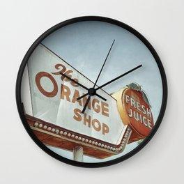 Orange Shop Wall Clock