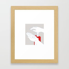 Hand Sanitizer Monoline Framed Art Print