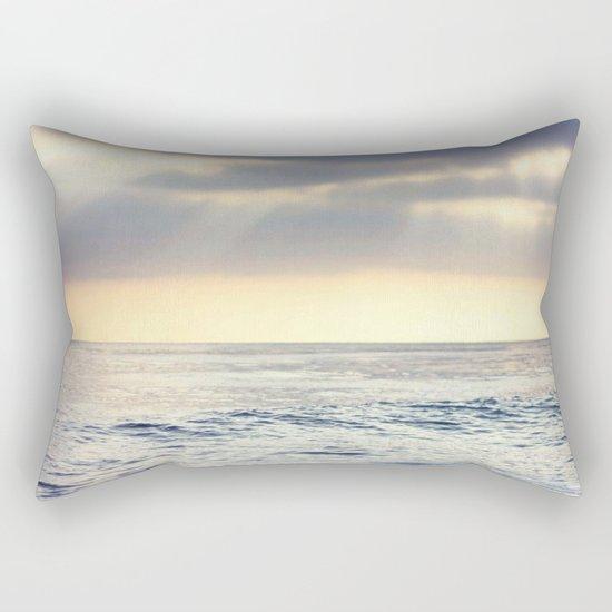 California Sunset over the Pacific Ocean Rectangular Pillow