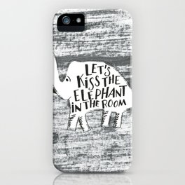 Kiss the Elephant iPhone Case
