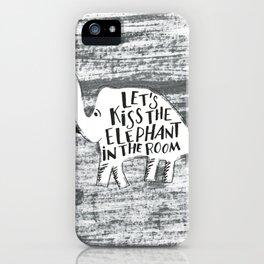 Kiss the Elephant iPhone Case