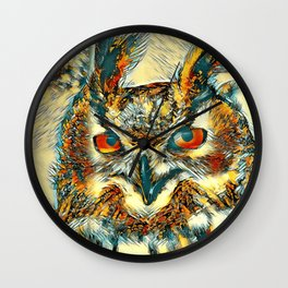 AnimalArt_Owl_20170913_by_JAMColorsSpecial Wall Clock