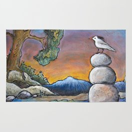 Rock Pile in the Rocky's *Little Bird Rug
