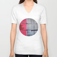 memphis V-neck T-shirts featuring Memphis Window by wendygray