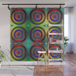 Multicolored Pattern Circles 1 Wall Mural