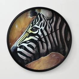Zebra - Alfred the Traveler - by LiliFlore Wall Clock