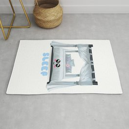 Sleep Fix Everything Funny Sleep Pun Rug