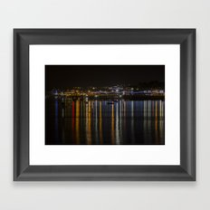 Prince of Wales Pier at Night Framed Art Print