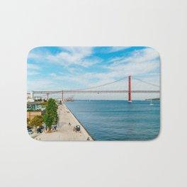 25 de Abril Bridge In Lisbon, Wall Art Print, Modern Architecture Art, Poster Decor, Large Printable Bath Mat