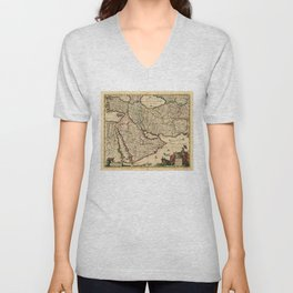 Map of the Middle East (1666) Unisex V-Neck