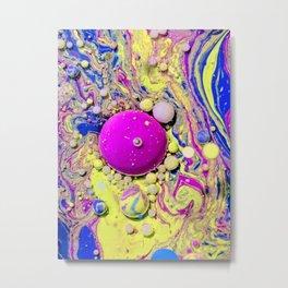 Bubble gum bubbles Metal Print