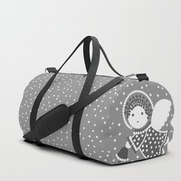 Angels on the gray Duffle Bag