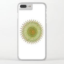 Sun burst spiro Clear iPhone Case