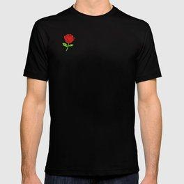 Rose Outline   Floral T-shirt