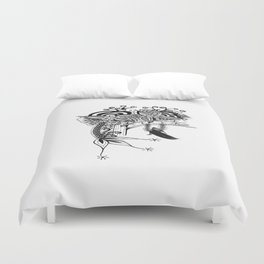 The Swing Ink drawing by Saribelle Duvet Cover