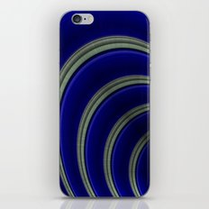 Blue And Silver Curves iPhone & iPod Skin