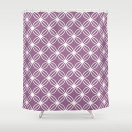 Abstract Circle Dots Purple Shower Curtain