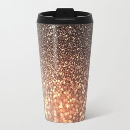 Tortilla brown Glitter effect - Sparkle and Glamour on #Society6 Travel Mug