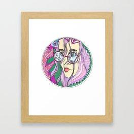lonely girl Framed Art Print