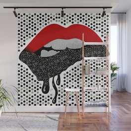 Chocolate Lover Nutty Lips Wall Mural