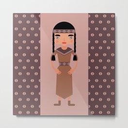Native American Girl  Metal Print