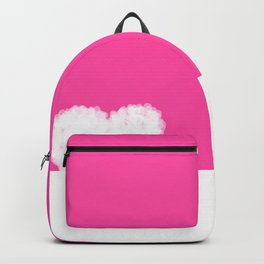 Beautiful white heart shaped hearts on pink background Backpack